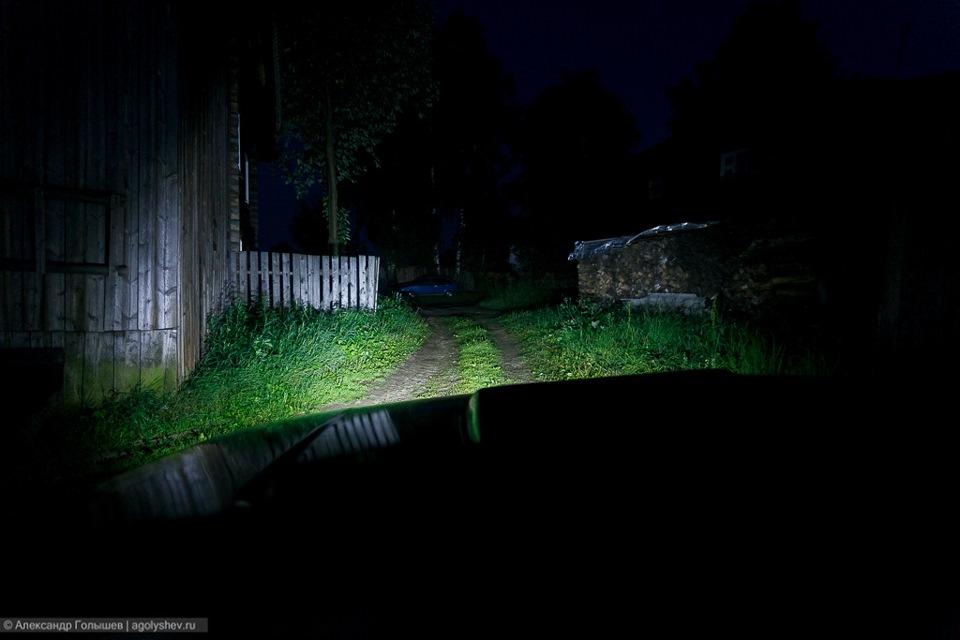 как светят светодиодные фары на ниве